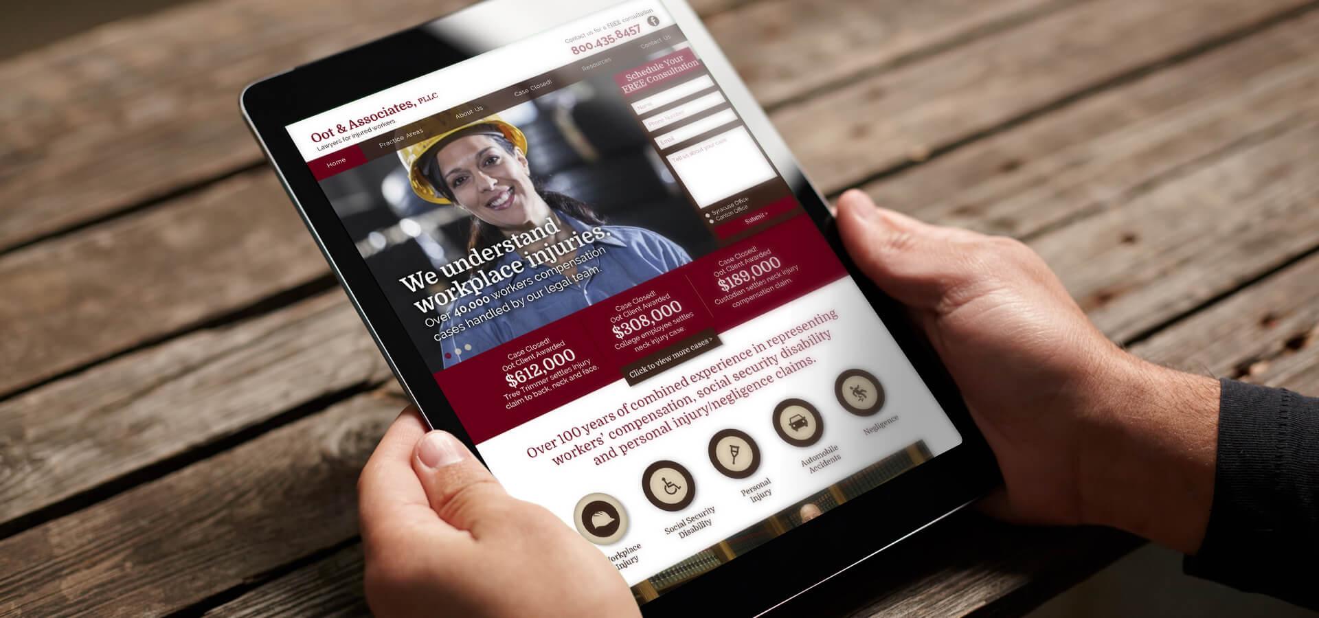 Oot & Associates Website on iPad